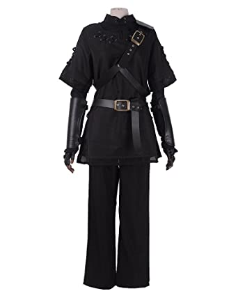 Amazon.com: Miccostumes Men\'s Pure Black Dark Link Cosplay Costume ...