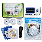 Heal Force Prince 80-A Easy Handheld Portable ECG Monitor With Bluetooth , 3-Lead ECG Cable and Pack of ECG Electrodes and USB Cable