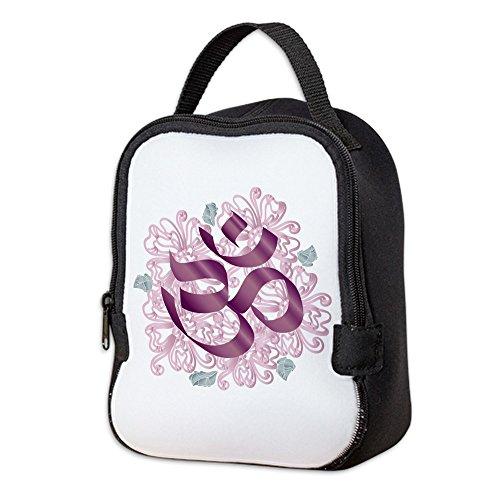 Neoprene Lunch Bag Hindu Om Omkara Aum Meditation Symbol by Truly Teague