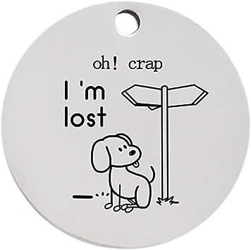 armistore Personalisierte benutzerdefinierte gravierte Metall Edelstahl Haustier Hundemarke