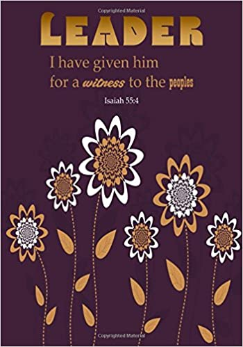 Amazon isaiah 554 leader portable names of god bible verse 554 leader portable names of god bible verse quote composition notebook to write in medium quote ruled journal 9781549910234 christian gift negle Image collections