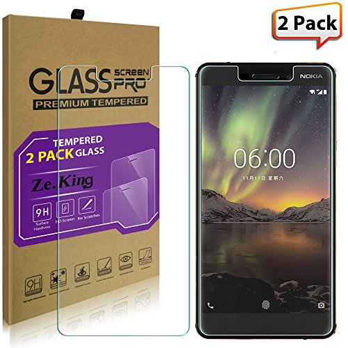 [2-Pack]Nokia 6 2018 Tempered Glass Screen...