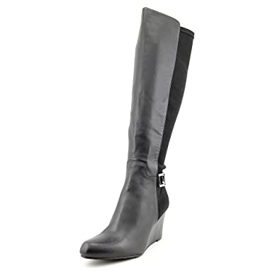 2abe749e1c5 Calvin Klein Women s Sama Wide Calf Tall Wedge Boots