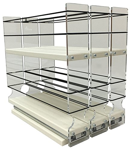 Vertical Spice - 222x2x11 DC - Spice Rack - Cabinet Mounted- 3 Drawers - 30 Capacity - New and Unique