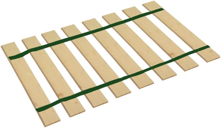 The Furniture Cove Twin Size Bed Slats Boards Wood Foundation Dark Green Strapping-Help Support Your Box Spring Mattress-Made in the U.S.A.! 37 Wide
