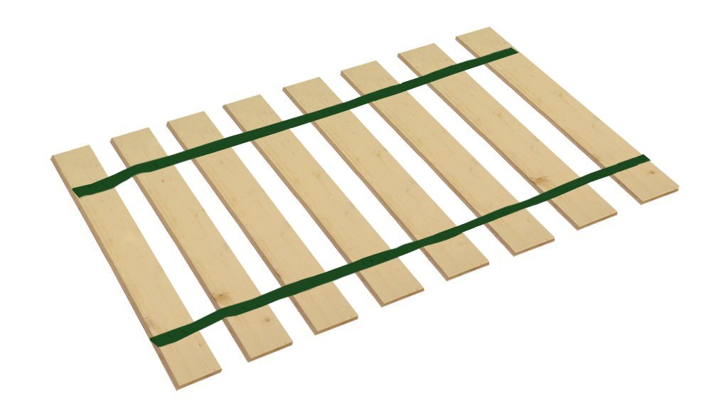 The Furniture Cove Twin Size Bed Slats Boards Wood Foundation Dark Green Strapping-Help Support Your Box Spring Mattress-Made in the U.S.A.! (38.75'' Wide) by The Furniture Cove