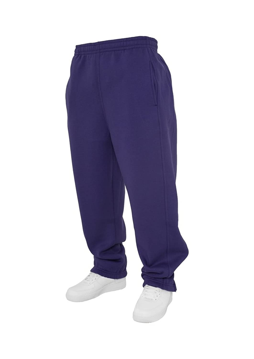 Urban Classics Men's Relaxed Trousers Grey Grey One Size - Purple - XX-Large