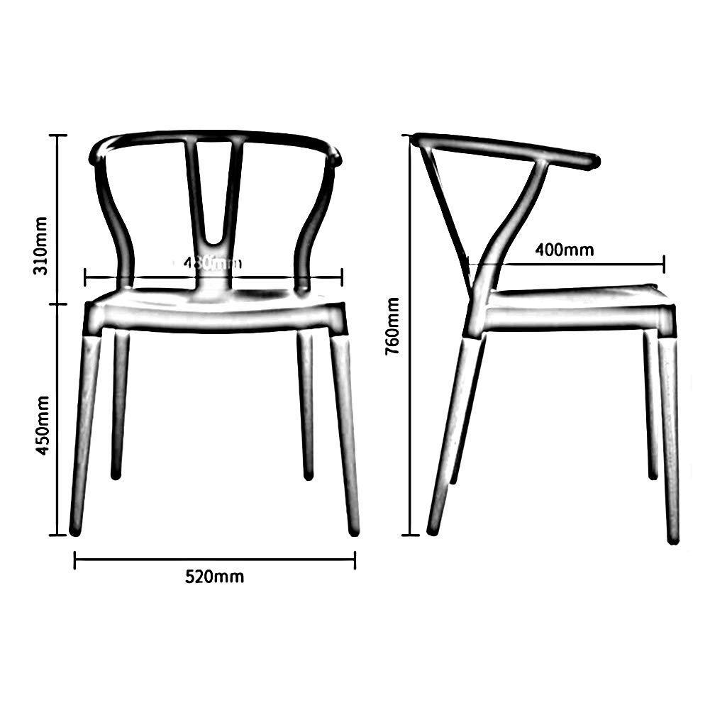 JIEER-C Fritidsstolar trä matstolar kökspallar höga ryggstöd ett kontor hem skrivbord stol hållbar stark mörkröd