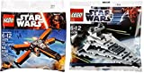 Lego Star Wars Star Destroyer & Poe's X- Wing Fighter Starship set - Polybag 30056 + 30278 edition Building Set