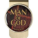 Man of God Psalm 18:32 Christian Metal Money Clip