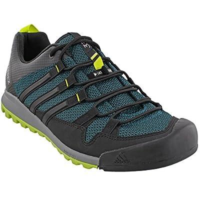 adidas Sport Performance Men's Terrex Solo Hiking Sneakers, Green, Mesh, Textile, Rubber, 7.5 M
