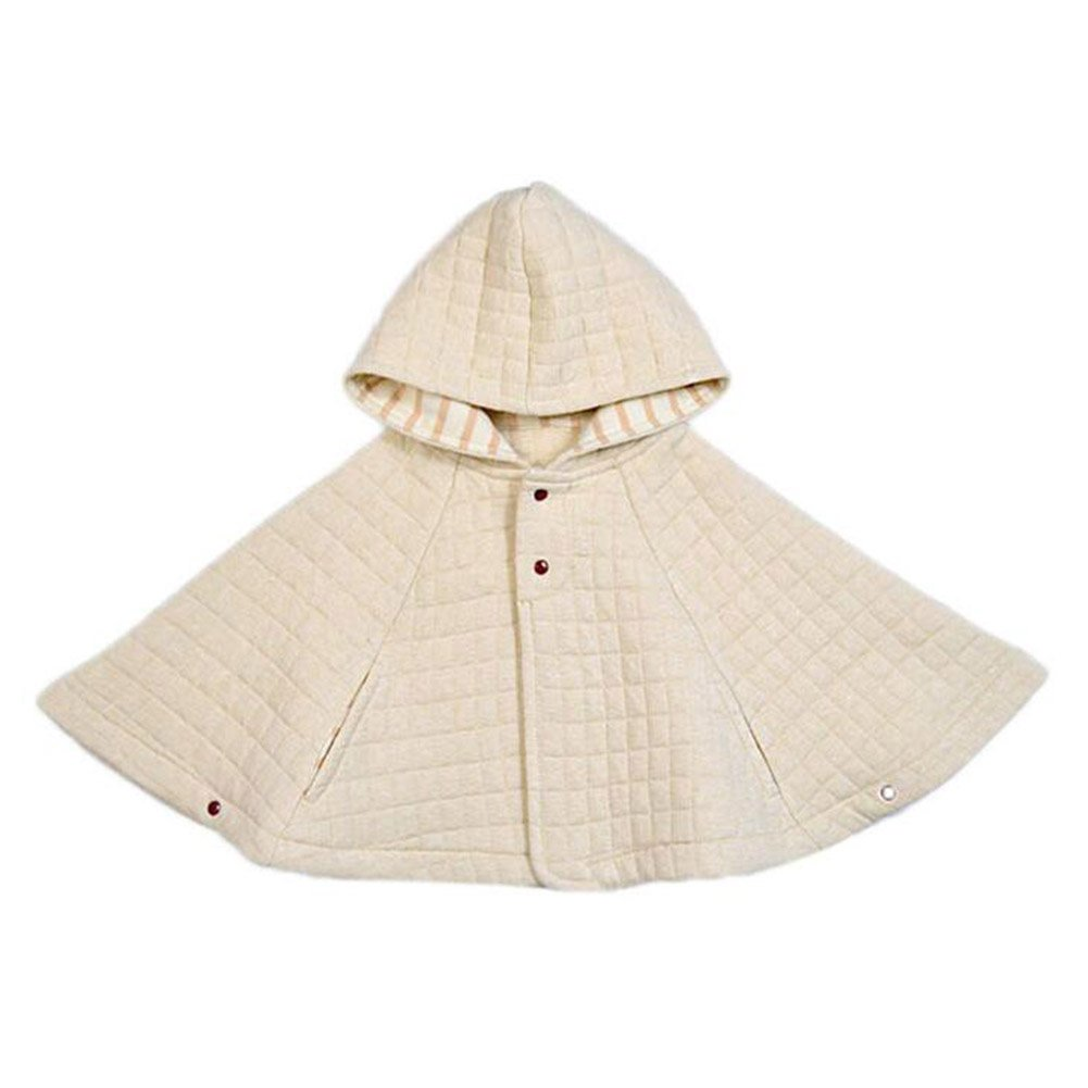 Manteaux Enfants Coton - Poncho Hiver Manteau Bébé Vestes Chaudes Coupe-vent Solide Beige Gris Rose Bleu 70 80 90 Yuxin R170929DP03Y
