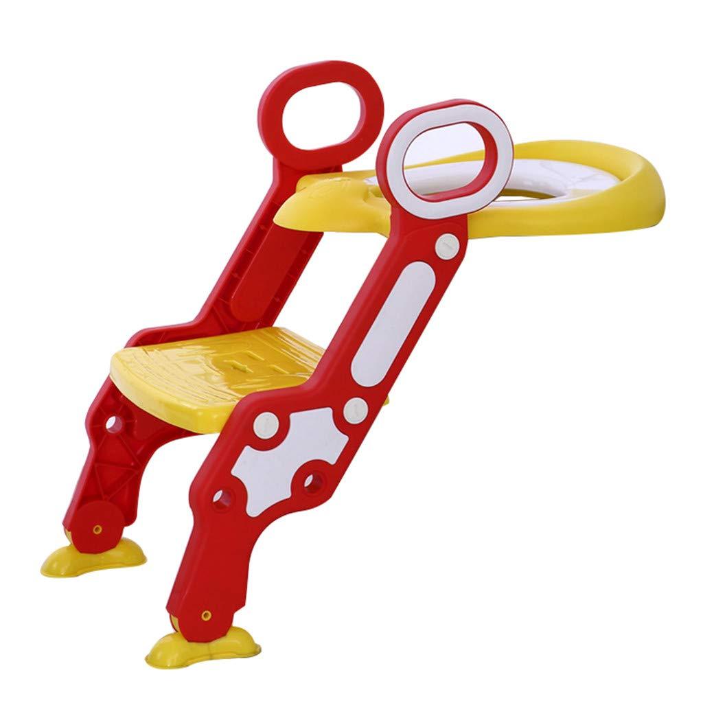 Children Portable Toilet Ring,Outdoor Travel Folding Chair Toddler Toilet Seat Adjustable Sturdy Non-Slip Step Stool Ladder Blue