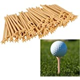 Broadroot 100pcs Plastic Professional Frictionless Five-prong Top 83mm Golf Training Tee Set