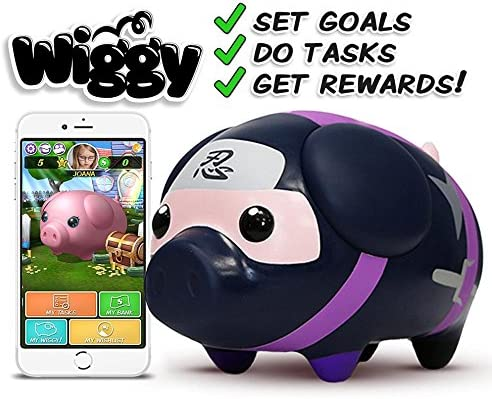 Ninja) - Wiggy Smart Piggybank, iOS and Android Connected