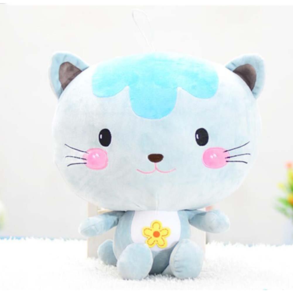 Wukong 11.7'' Cat Plush Doll Stuffed Animal Toy (blue)