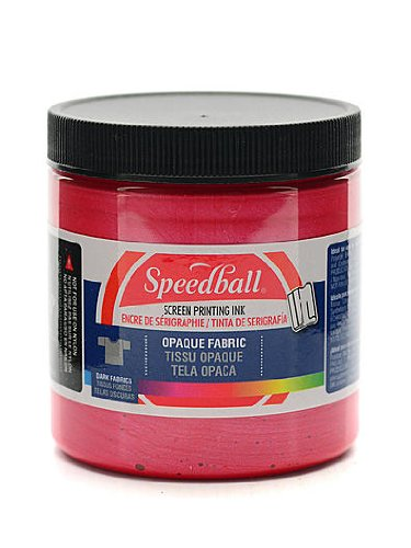 Speedball Opaque Fabric Screen Printing Inks Raspberry 8 Oz. [Pack of 2] (2PK-4801)