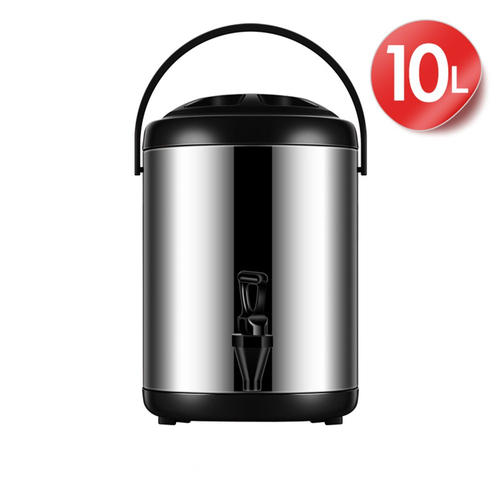 Stainless Steel Thermos With Faucet Car Home Outdoor Ice Buckets For Milk Tea Coffee Juice Wine 10L