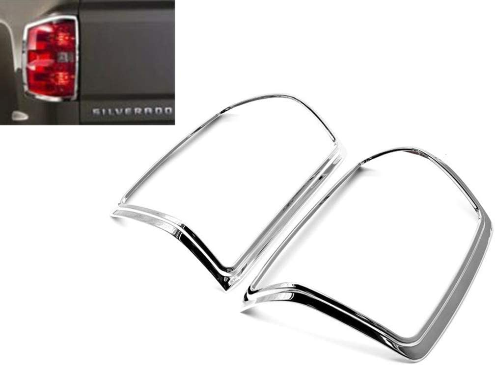 eLoveQ Polished Stainless Steel Chrome Window Sill Trims FOR 2014-2018 Chevy Silverado//GMC Sierra CrewCab Only