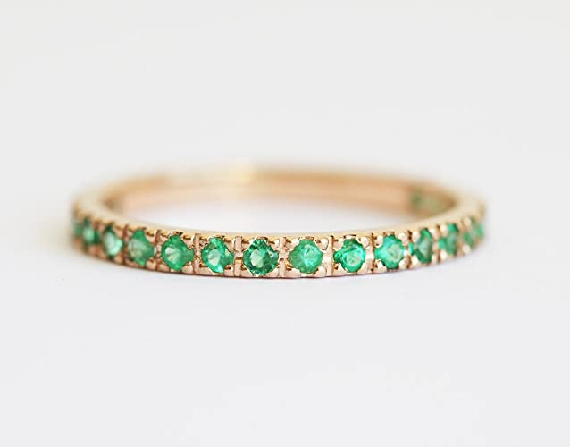 Emerald Wedding Band.Amazon Com Emerald Wedding Ring Emerald Wedding Band Emerald Ring