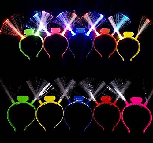 Fiber-optic LED Flashing Headband, Lot of 12 - Various Styles Headbands by Mammoth Sales (Led Headband)
