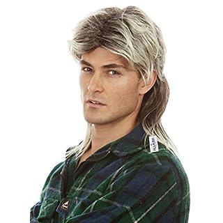 Mullet Wigs for Men 80s Costumes Mens Blonde Mullet Wig Redneck Costume Accessories