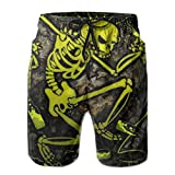 The-Offspring Posters Days Go by Elastic Waist Boardshorts Quick-Drying Swim Trunks Board Shorts with Pocket for Men Teens Boys