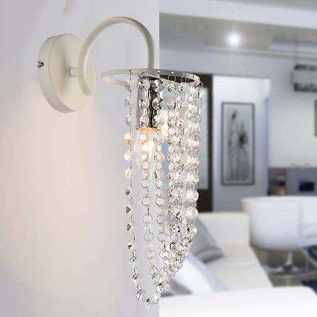 Nachttischlampe Wandleuchte Schlafzimmer Gang kreative Moderne, minimalistische Wohnzimmer Wandleuchte Crystal Neue (Farbe  Weiß Led)