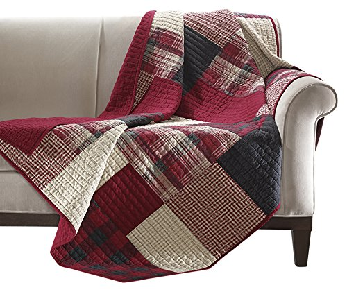 red quilted throw blankets - 8