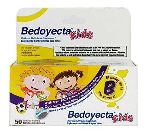 Bedoyecta Kids Multivitamin, Chewable Tablets, 50 Count