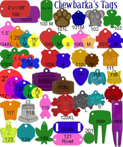 300 Chewbarka Bulk Wholesale engraving machine ID tags GI Dog Tag Blank by Gogad