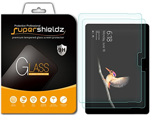 Supershieldz [2-Pack] for Microsoft Surface Go Screen Protector, [Tempered Glass] Anti-Scratch, Bubble Free, Lifetime Replacement Warranty