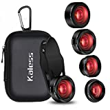 iPhone Camera Lens Kit,5 in 1 Kaiess 120° Super Wide Angle & Macro Lens + 2X Telephoto Lens + 198° Fisheye Lens + Kaleidoscope Lens for iPhone X/8/7/6/6s plus,Samsung and Most Smartphone