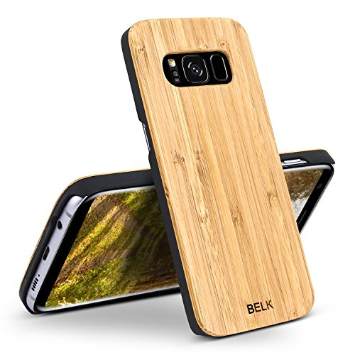 Price comparison product image Galaxy S8+ Case, BELK 2 in 1 Dual Layer Rugged PC Hybrid Armor with Premium Shockproof Hard Wood Back Shield Impact Resistant Heavy Duty Protective Slim Wooden Bumper Cover for Galaxy S8 Plus - Bamboo