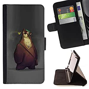 BullDog Case - FOR/HTC Desire 820 / - / bear cute cartoon spring animal kids /- Monedero de cuero de la PU Llevar cubierta de la caja con el ID Credit Card Slots Flip funda de cuer