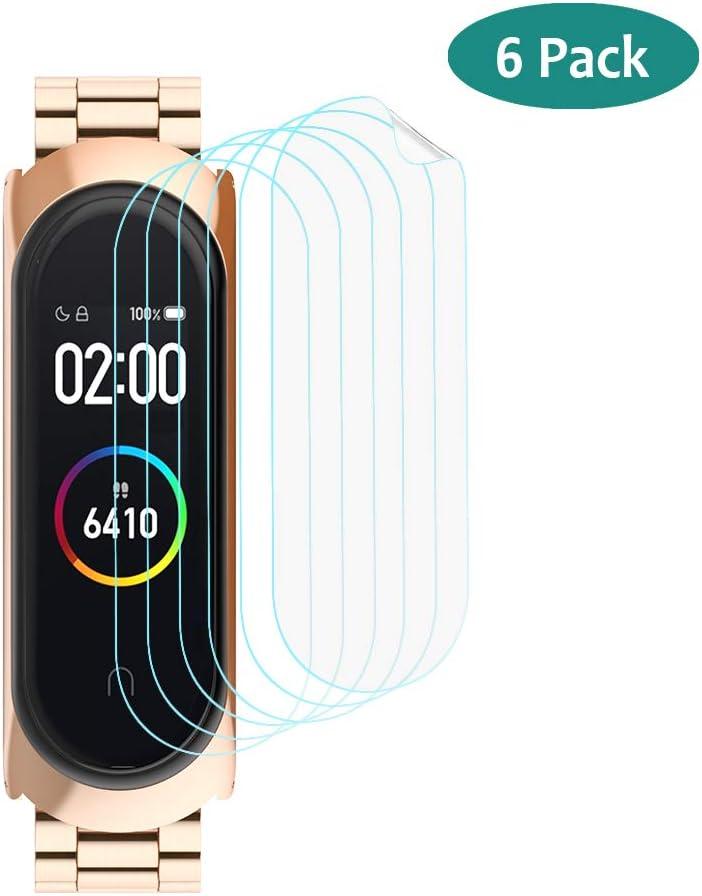 GeeRic Protector de Pantalla Compatible para Xiaomi Mi Band 4,Paquete de 6 TPU Protector de Pantalla de Piel Suave [Crystal Clear] [Anti-Scratch] [Anti-Bubble]: Amazon.es: Electrónica