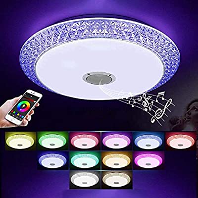 LCTCXD Luz de techo de la música LED, RGB que cambia la lámpara de ...