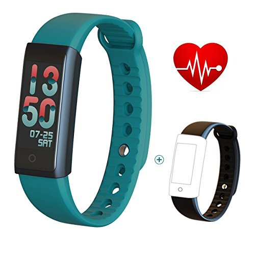 Fitness Tracker/Smart Bracelet with Color Screen,Smart Wristband Waterproof Pedometer Activity Tracker with Sleep Monitor, Heart Rate Monitor, Blood Pressure/Oxygen Monitor (Pedometer Heart Rate Monitor)