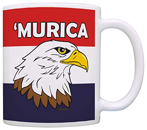 American Gifts Murica Bald Eagle 4th of July USA Pride Gift Coffee Mug Tea Cup Patriotic