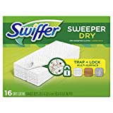 Swiffer Sweeper Dry Mop Pad Refills for Floor Mopping and Cleaning, All Purpose Floor Cleaning Product, Unscented, 16 Count