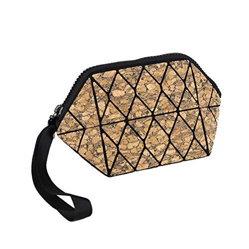 (Wind Goal Holographic Geometric Luminous Cosmetic Makeup Bag Womens Scale Lattice Cell Phone Purse Handbag)