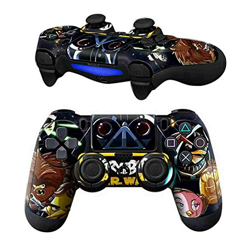 (MODFREAKZ Pair of Vinyl Controller Skins - Mad Poultry Space Battle for Playstation 4)