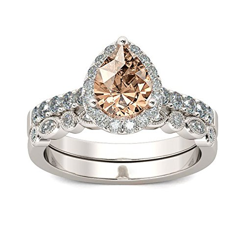 Kstare,Princess Creative Set Ring Engagement Rings for Women and Wedding Set in 2-in-1 Fashion Zirconia Ring Accessories ()