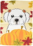 Cheap Caroline's Treasures BB2014GF Maltese Thanksgiving Garden Flag, Small, Multicolor