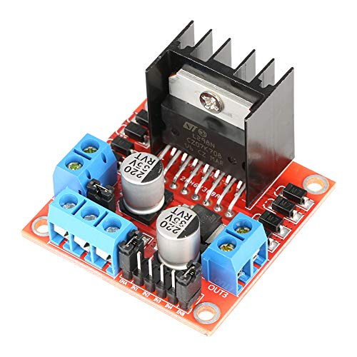 Price comparison product image L298N Motor Driver Module,  Dual Channel H Bridge Stepper Motor Driver Board Module Low Heat Anti-Jamming for Smart Car 1pc