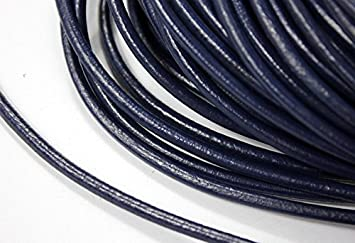 6 Meters 4mm Round Genuine Cow Hide Leather Cord, 4mm Diameter Bracelet Leather Strap (Black) tisent