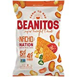 Beanitos Nacho Nation White Bean Chips Plant Based Protein Good Source Fiber Gluten Free Non-GMO Corn Free Tortilla Chip Snack 4.5 Ounce (Pack of 6)