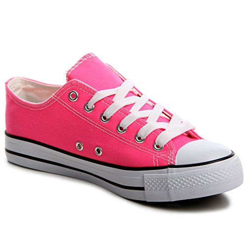 topschuhe24 554 Damen Sneaker Turnschuhe Rosa