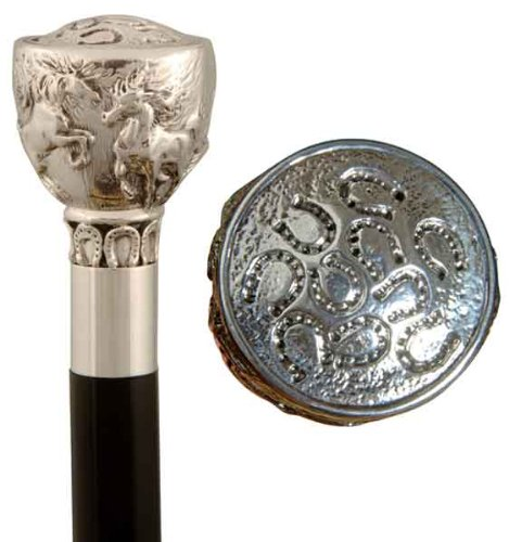 Luxury Cane with Silver Handle. Horses by Oxfords