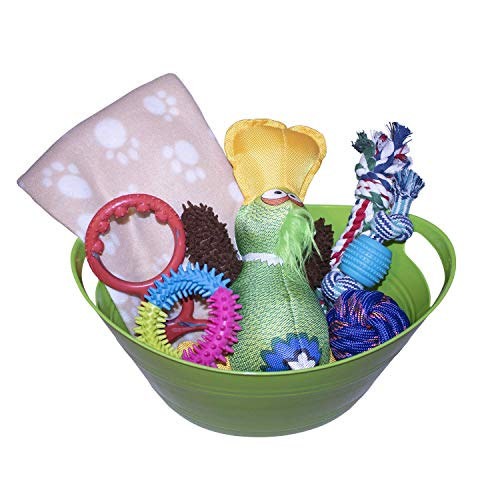 Woofer Dudes Dog Gift Basket for Large Dogs, Easter Dog Gift Basket